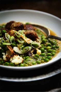 pea soup with bulgar & sausage