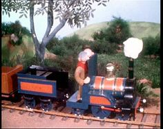 The train with cotton wool smoke on Chigley  time goes by when your the driver of a train ......