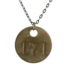 Brass Tag Necklace - I have one of these tags, I can make my own necklace.