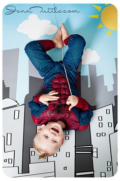 spiderman backdrop for the kids to have some fun with Kids Birthday Photography, Toddler Photography, Baby Pictures, Baby Photos, Superhero Birthday Party, 4th Birthday, Fashion Niños, Baby Spiderman, Spiderman Pictures