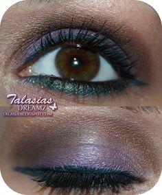 Purple Brown Eye Make Up - Datum: 11.11.2011  http://talasia.blogspot.de/2011/12/amu-mac-me-over-fluidline-midnight.html