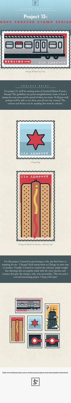 Chicago Postage Stamp Series on Behance