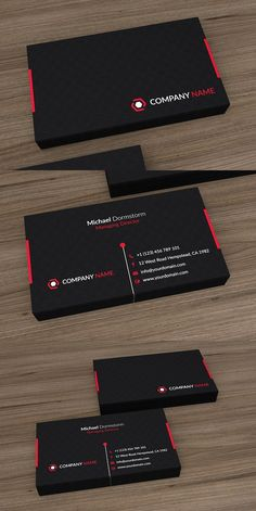 Creative business card for corporates. Business Cards Layout, Professional Business Card Design, Black Business Card, Modern Business Cards, Corporate Business, Corporate Design, Business Card Psd, Visiting Card Design, Name Card Design