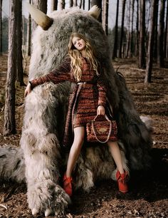 Mulberry Campaign. Lindsey Wixson by Tim Walker.