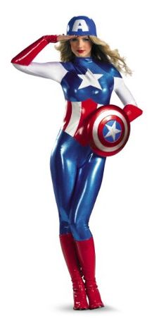 Disguise Marvel Captain America American Dream Bodysuit Womens Adult Costume, Red/White/Blue, Small/4-6 Disguise Costumes http://www.amazon.com/dp/B008294GD8/ref=cm_sw_r_pi_dp_Fn82tb0MXWDS6EXN