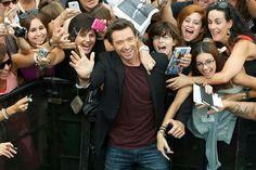 Hugh Jackman with fans