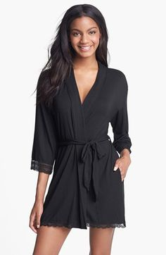 another cute robe, I would rather a color than just black... a pretty purple or a softer pink or a simple pattern(NOT PLAID) such as floral or polka dots