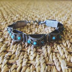 Loving this Dimensional Bracelet. What would you wear it with? #whwmaui #dimensional #jewelry #bracelet #turquoise #blue #beads #thrift #thrifting #secondhand #maui #hawaii #style #fashion #accessories
