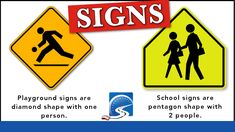 On a road test, both playground and school signs demand increased scanning and observation.