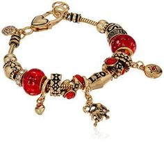 Leo Zodiac Sign Gold Tone Charm Bracelet  when you think of a Leo think luxury meaning the best Leo gift Ideas exude luxury and they love it when you go over the top when it comes to gifts.