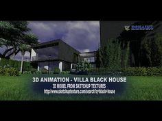 3D ANIMATION - VILLA BLACK HOUSE #20