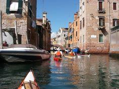 Venice, Italy - kayak tour -- sign me up!