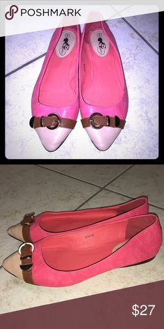 4 for $15 SPCL CG Flats adorable Pink with tan tips and brown. Super colorful and adorable! CG Shoes