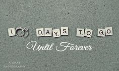 100 Days till Wedding countdown sign banner. 100 days to go.