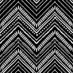 Zigzag and stripe line. Vector illustration for tribal design. Black and white colors. For textile, wallpaper, wrapping paper. Tribal Print Pattern, Tribal Prints, Print Patterns, Tribal Pattern Wallpaper, Stripe Pattern, Fabric Patterns, Color Patterns, Surfergirl Style, Native American Patterns