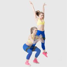 Start in a squat position, making sure you have tension on the bands. Press off both feet and jump, sending arms out into a high V and extending the legs out wide, creating a star shape with your body. Do as many as you can