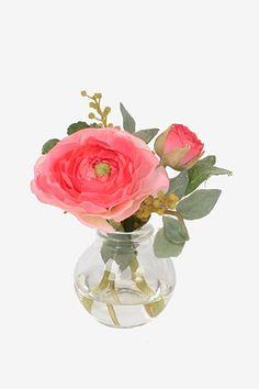 Ranunkel 10cm i vase - Rosa 69kr