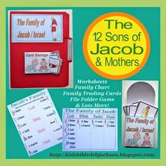 Lots of printables and ideas for the 12 Sons of Jacob @ www.biblefunforkids.com #Biblefun