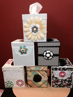Tissue box covers.