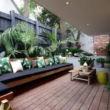 Image result for sunken deck seating area