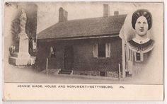 Jennie Wade House Postcard.