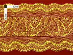 Red & Gold / Tapa - AlohaOutlet - skirt border