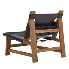 Sonora Canyon Sling Chair in Black Leather - Chairs / Ottomans - Furniture - Products - Ralph Lauren Home - RalphLaurenHome.com