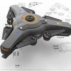 Drone Design Ideas: uav by 本心 马 on ArtStation. Drone Technology, Futuristic Technology, Cool Technology, Wearable Technology, Latest Drone, New Drone, Muse Drones, Art Science Fiction, Mode Cyberpunk