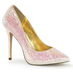 AMUSE 20G ° Damen Pumps ° Pink Glitter ° Fabulicious #pumps #damenschuhe #fashion