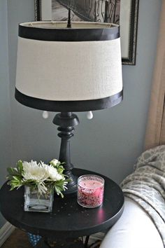 A thrift store upcycle project takes old brass to farmhouse sass! Copper Lamps, Brass, Farmhouse Lamps, Lamp Makeover, Cottage Kitchens, Upcycled Furniture, Furniture Ideas, Thrift Store Finds, Lampshades