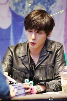 "150926 Jung Yong Hwa (CNBLUE) 2nd album ""2gether"" Fan Sign Event at Meongdong, Seoul so cute. :3 """