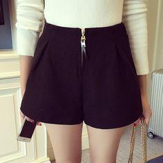 Slim High-Waist Fashion Casual Women Shorts