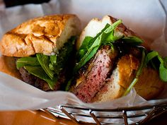 """""""The Father's Office Burger: Caramelized onion, applewood bacon, gruyere cheese, maytag blue cheese and arugula"""" (Father's Office, 1018 Montana Ave., Santa Monica, CA 90403)"""