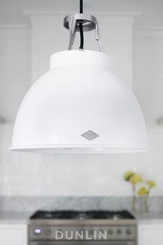 Kitchen lighting. Original BTC Titan 1 Pendant Light. White