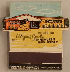 Embers Restaurant and Lounge #frontStriker #Feature #contour diecut shaped 18 stem #matchbook #newjersey To Order your Business' Own Branded #Matchbooks or #Matchboxes GoTo: www.GetMatches.com or CALL 800.605.7331 TODAY!