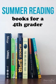 Reading over the summer helps prevent summer learning loss. A list of age-appropriate books for a child who will be a fourth grader in the fall. #overstuffedlife