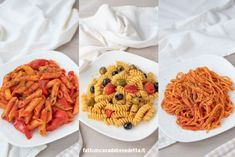 Pasta Recipes, Fusilli, Waffles, Spaghetti, Cooking, Breakfast, Olive, Ethnic Recipes, Penne