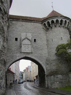 Tallinn old town gate, Estonia Places To Travel, Places To See, Travel Around The World, Around The Worlds, Baltic Region, Estonia Travel, Baltic Cruise, Medieval Town, Baltic Sea