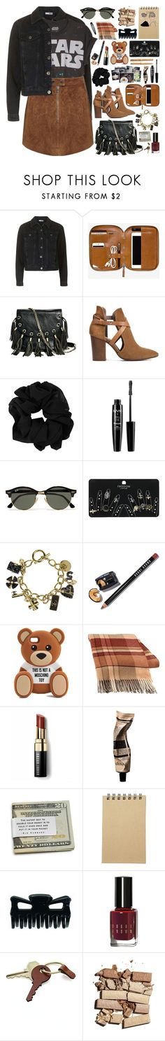 """""""2618. Before something great happens, everything fall apart."""" by chocolatepumma ❤ liked on Polyvore featuring Topshop, GUESS by Marciano, H London, NYX, Ray-Ban, Chanel, Parker, Bobbi Brown Cosmetics, Moschino and Dot & Bo"""