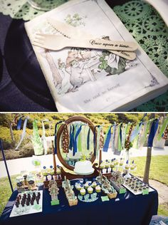 @Melissa Albertario Peck - Charming Vintage Storybook Birthday Party. Would make a cute shower too.