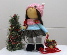 Weihnachten Dekoration Puppe-handgemachte von NICEDOLLSANDRABBITS