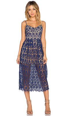 8697bfb3f35 Shop for Toby Heart Ginger x Love Indie Bella Crochet Midi Dress in Navy    Nude