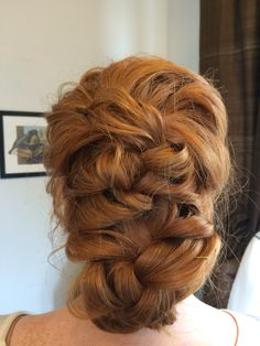Beautiful updo I styled today. #braid