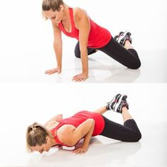 Get down on the ground for this toning arm exercise, the diamond-leg pushup.