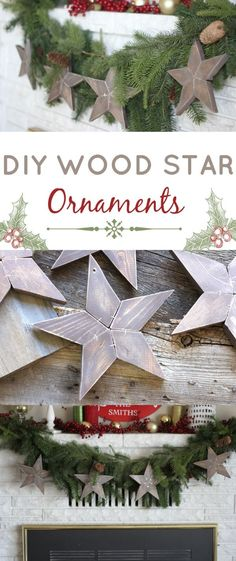 Love these wood stars! Perfect for year round home decor!
