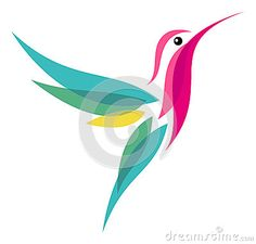 Illustration about Stylized flying Hummingbird - vector illustration. Illustration of style, wildlife, animal - 32771731 Art Images, Illustration, Art Drawings, Sparrow Art, Fabric Painting, Art, Bird Stencil, Hummingbird Art, Bird Art