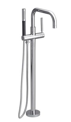 Buy the Kohler Polished Chrome Direct. Shop for the Kohler Polished Chrome Purist Floor Mounted Roman Tub Faucet Trim with Metal Lever Handle and Built-In Diverter - Includes Personal Hand Shower and save.