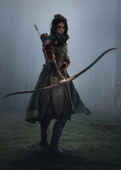 Dark Warrior, Fantasy Warrior, Fantasy Rpg, Medieval Fantasy, Fantasy Artwork, Dark Fantasy, Archer Characters, Fantasy Characters, Female Characters