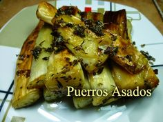 Recetas Caseras Fáciles MG: Puerros asados Mexican Food Recipes, Diet Recipes, Vegan Recipes, Food Hacks, I Foods, Tapas, Healthy Life, Side Dishes, Paleo