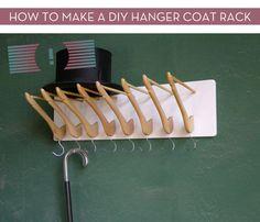 How To: Make A DIY Hanger Coat Rack